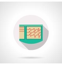 Cardiac diagnostics flat color design icon vector image