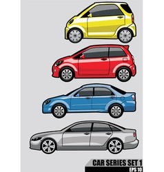 cars series set 1 vector image