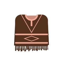Mexican poncho icon flat style vector image