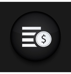 modern black circle icon Eps10 vector image vector image