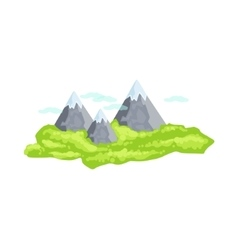 Mountain peaks as a national canadian culture vector