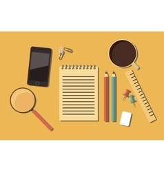 Workplace working space writing instruments vector