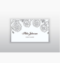 business card template design element can be vector image