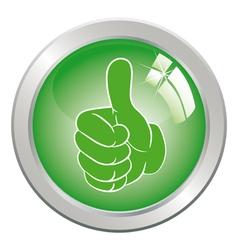 circle button art vector image vector image