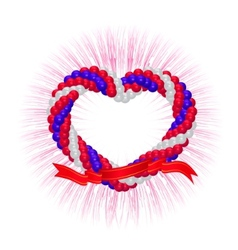 heart from balloons vector image vector image