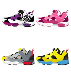 Running shoes Sneakers vector image vector image
