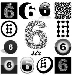 six vector image