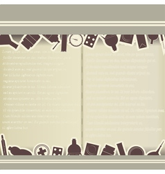 Vintage background with medical themes vector image vector image