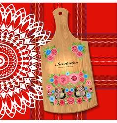 wooden utensil5 vector image vector image