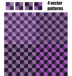4 circle and square patterns violet vector