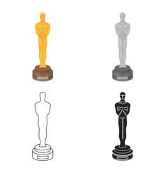 Academy award icon in cartoon style isolated on vector