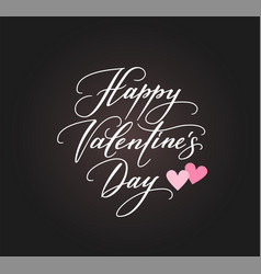 background with happy valentines day text and vector image