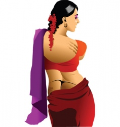 beautiful Indian vector image