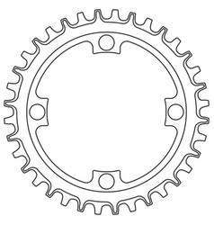 bicycle chainring 36 tooth isolated mtb vector image