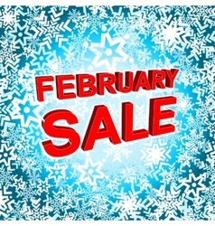 Big winter sale poster with FEBRUARY SALE text vector