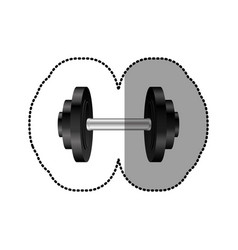 Black weight gym tool icon vector