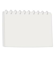 Blank notebook page with binder sketchbook vector