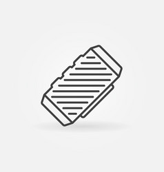 Bluetooth speaker concept outline icon vector
