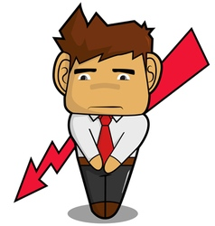 Businessman fail cartoon vector image