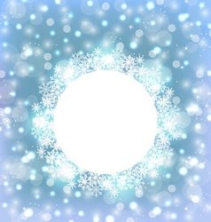 Christmas frame made in snowflakes on elegant vector image vector image