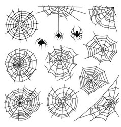 Cobweb halloween monochrome spiderweb and vector