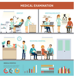 Colorful medical examination infographic template vector