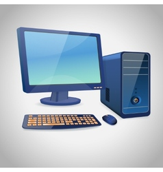 Computer and peripheral blue vector