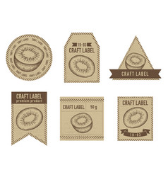 craft labels vintage design with of vector image