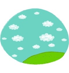 Cute landscape icon vector image