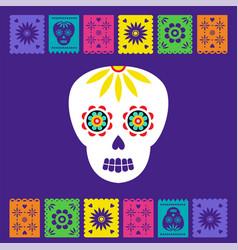 day dead dia de los muertos banner with vector image