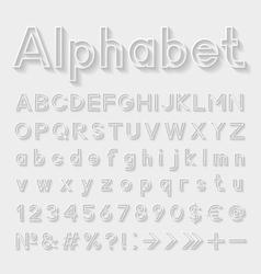 Decorative alphabet vector image