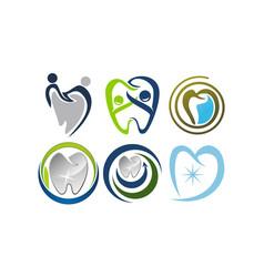 Dental care template set vector