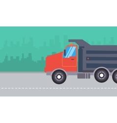 dump truck landscape vector image