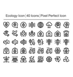 ecology line icon vector image