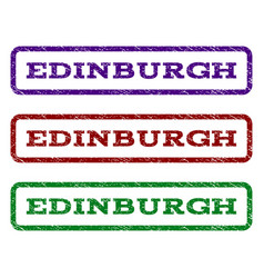 Edinburgh watermark stamp vector