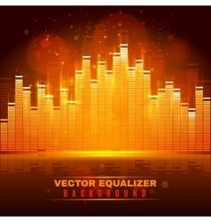 Equalizer wave light background poster vector
