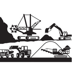 Extraction and processing ore from open pit vector