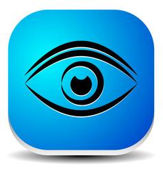 eye silhouette icon vision eye care eye health vector image