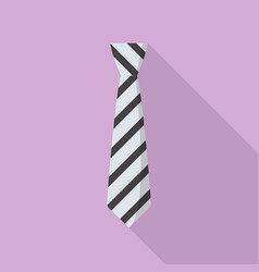 fashion necktie icon flat style vector image
