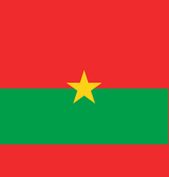 Flag of burkina faso official proportions vector