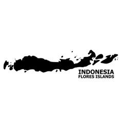 Flat map indonesia - flores islands vector