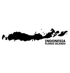 Flat map indonesia - flores islands with vector