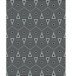 geometrical hexagons vector image