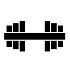 glyph beautiful dumbbell icon vector image