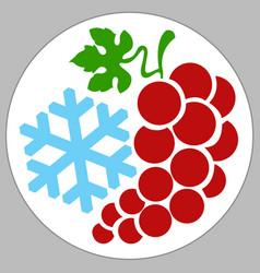 Grape holiday box vector