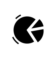graph pie icon black sign on vector image