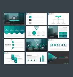 Green bundle infographic presentation template vector