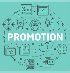 Green line flat circle promotion vector
