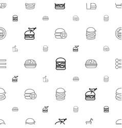 Hamburger icons pattern seamless white background vector