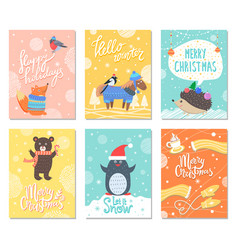 happy holidays hello winter vector image